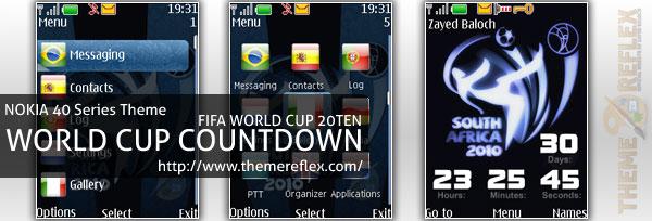 FIFA World Cup 2010 Countdown – Nokia s40 Theme – ThemeReflex