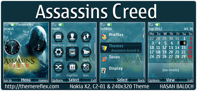 Assassin's Creed theme for Nokia X2, C2-01 & 240×320