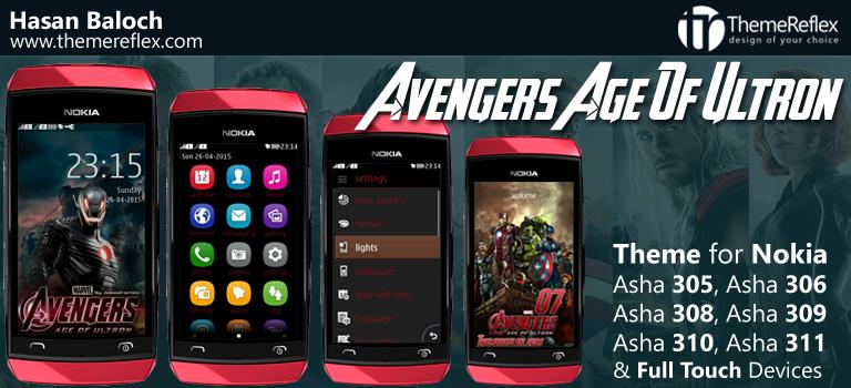 Avengers The Age of Ultron Theme for Nokia Asha 305, Asha