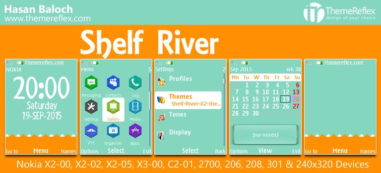 Shelf River Theme for Nokia X2-00, C2-01, X2-02, X3-00, 206